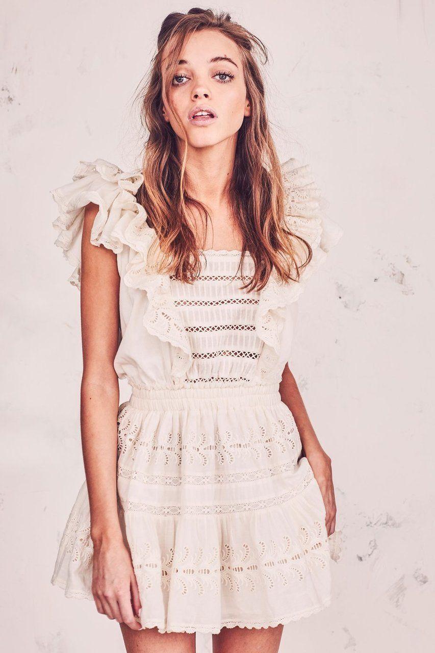 45e737e1a65e Love Shack Fancy Dora Dress Antique White in 2019 | Love Shack Fancy ...