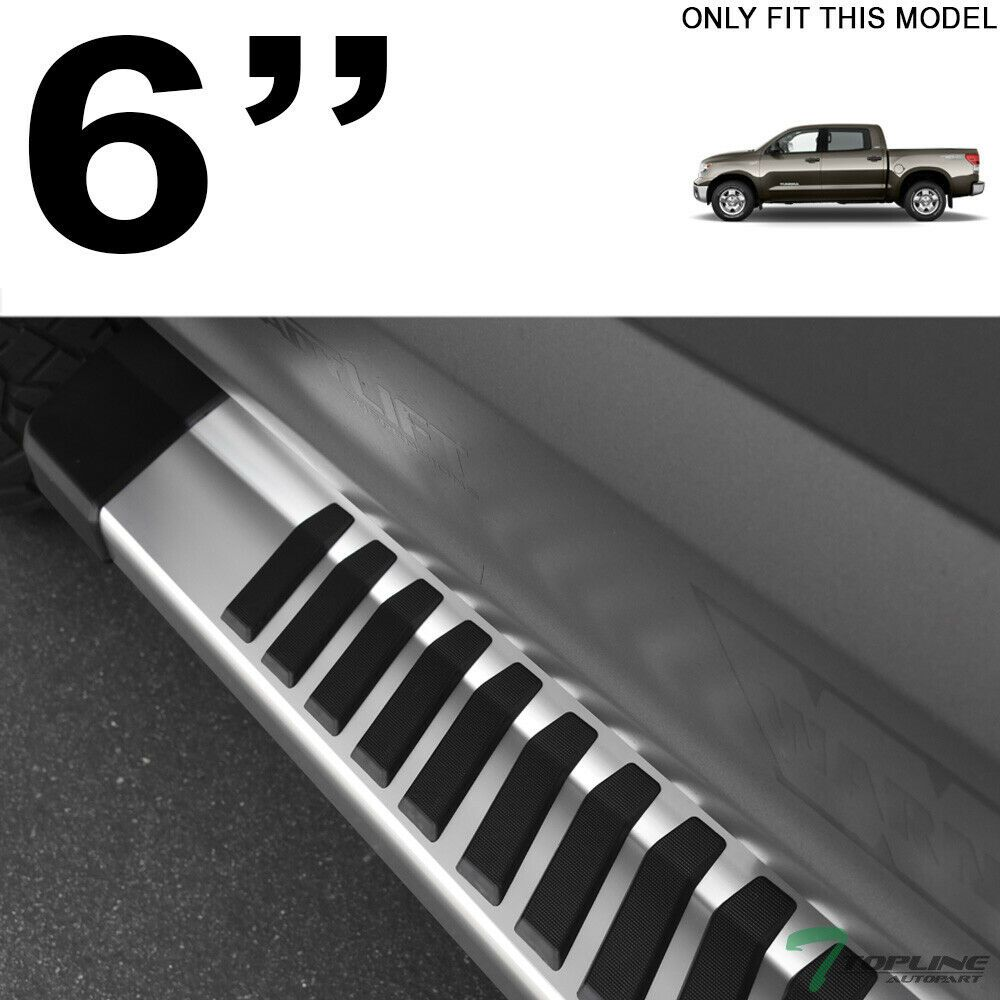 """For 07-18 Chevy Silverado Crew Cab 4/"""" Oval Chrome Side Step Bars Running Boards"""