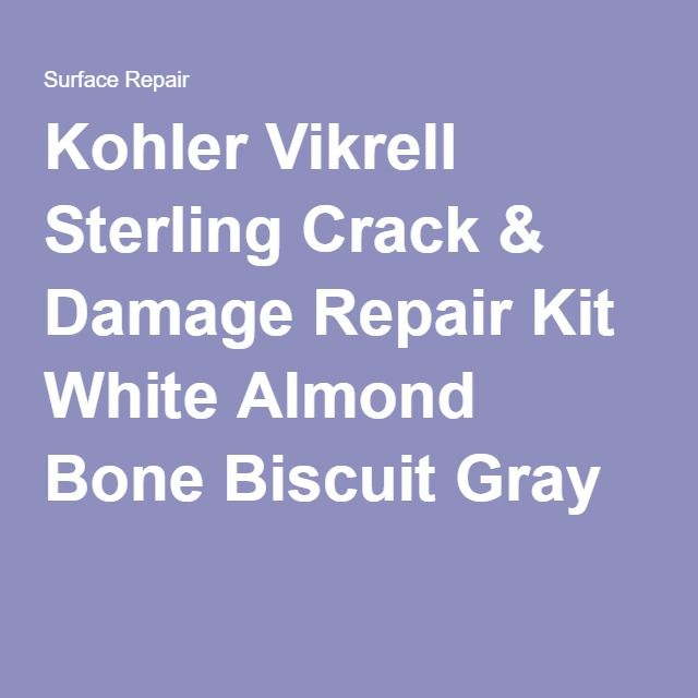 Sterling Vikrell Bath Tub & Shower Repair Kit White Bone Almond ...