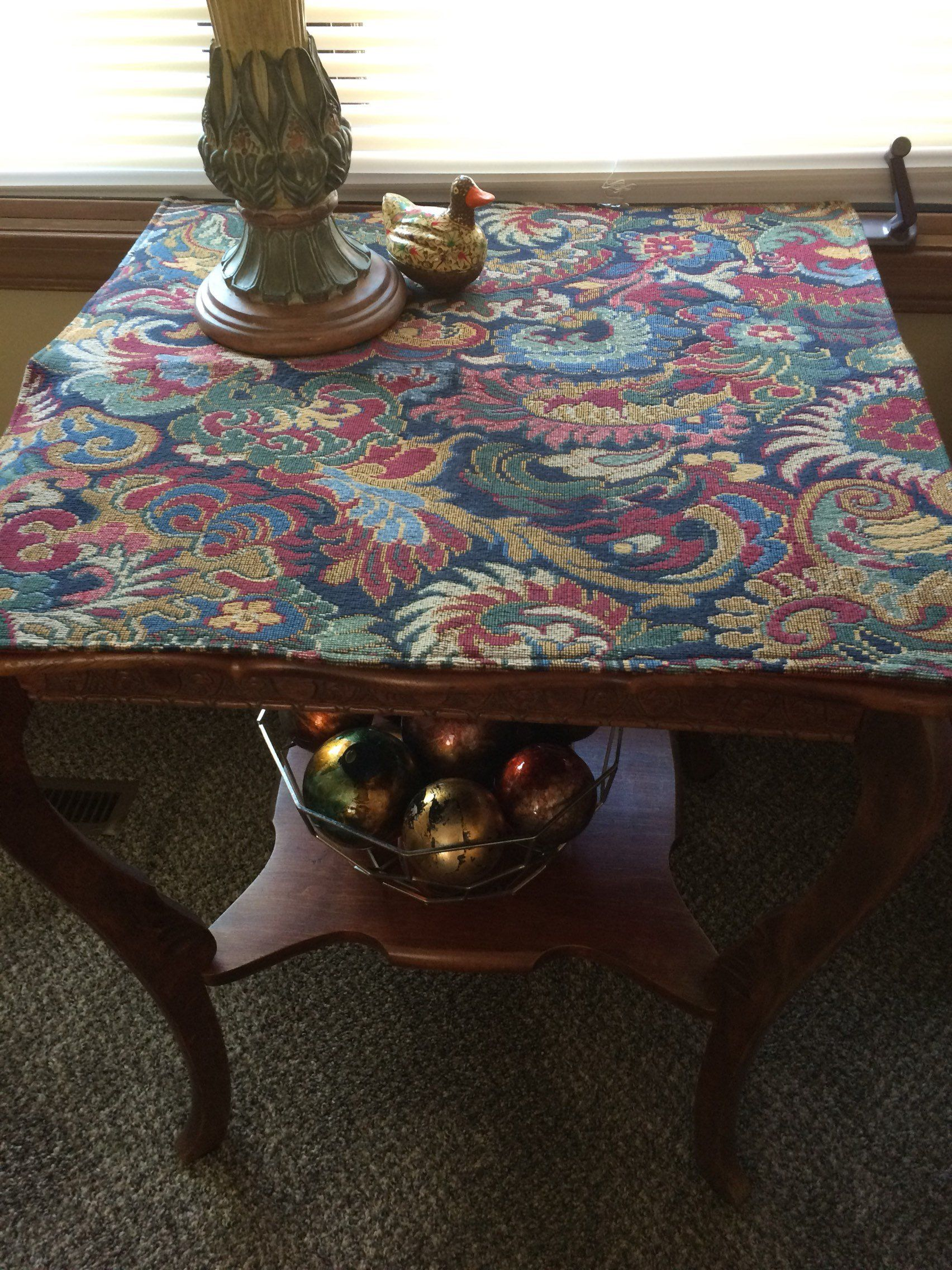 Tapestry Table Topper Floral Table Cover Entry Way Runner