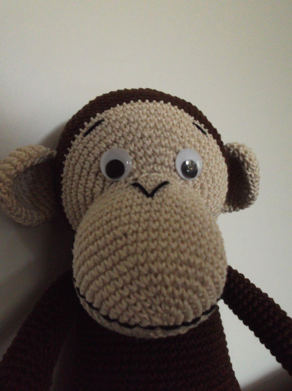 HaakYdee: Gehaakte knuffel aap / amigurimi monkey | אמיגורמי | Pinterest