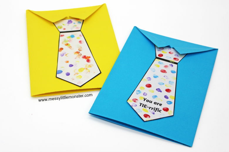 Father S Day Tie Card With Free Printable Tie Template Father S Day Card Template Kids Fathers Day Crafts Easy Fathers Day Craft