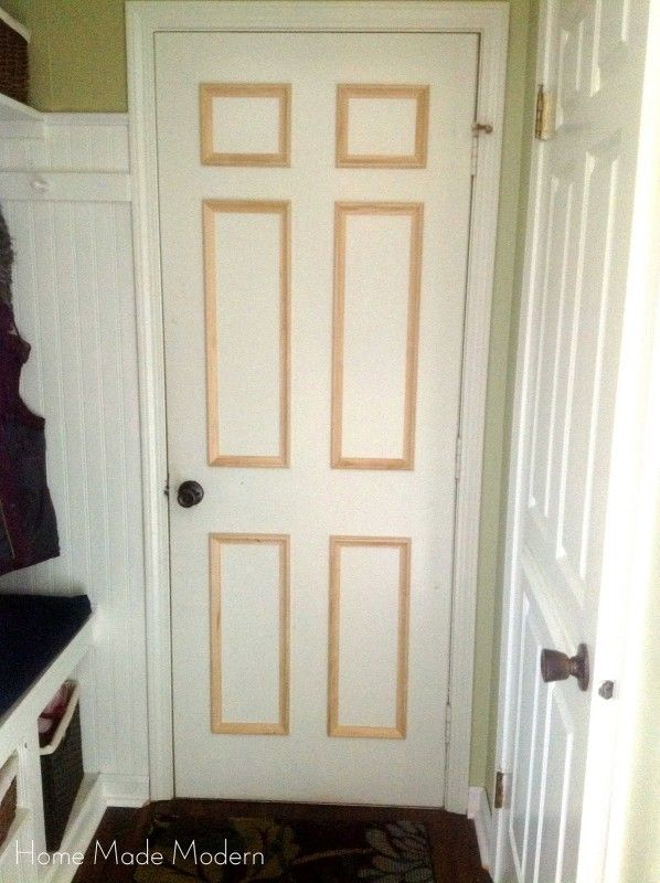 Remodelaholic 40 Ways To Update Flat Doors And Bifold Doors Diy Interior Doors Bifold Doors Makeover Bifold Doors