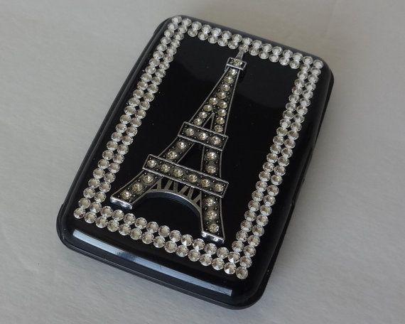 Swarovski Rfid Aluminum Wallet Case Eiffel By