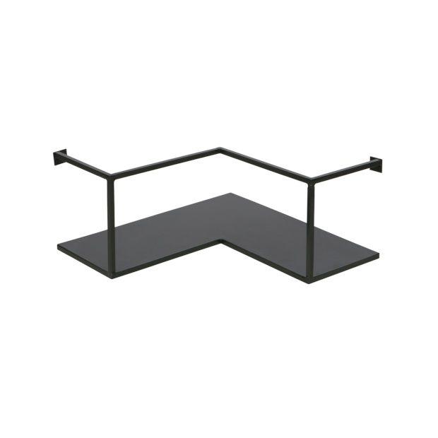 woood Meert Wandplank Metaal - Zwart - afbeelding 2