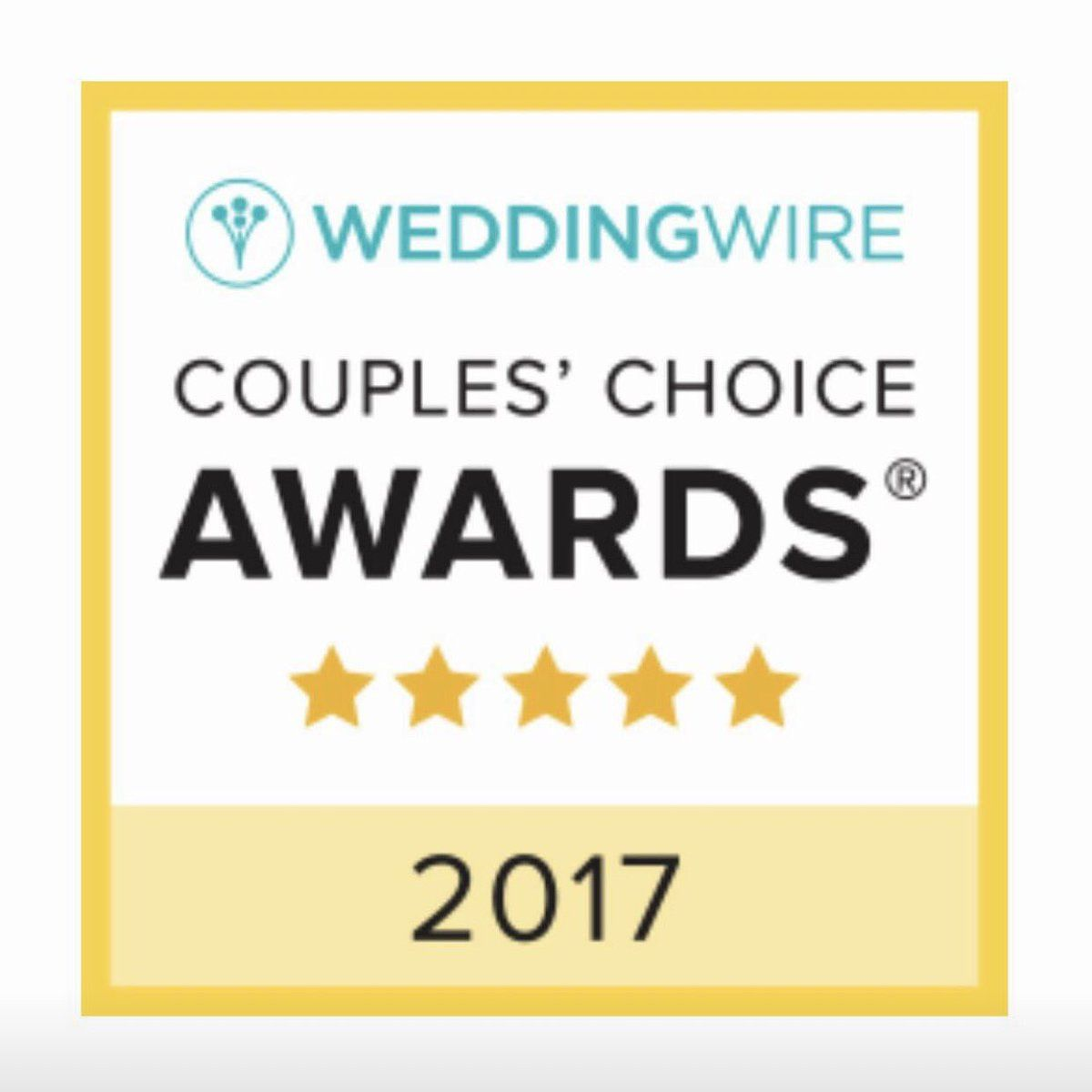 So honored to have won this WeddingWire Couple's Choice Award! THANK YOU!
