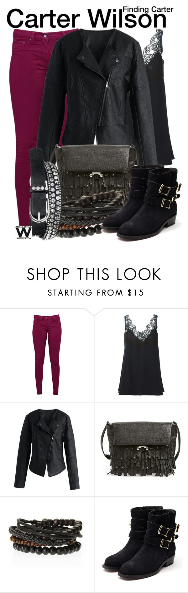 """""""Finding Carter"""" by wearwhatyouwatch ❤ liked on Polyvore featuring Great Plains, Chloé, Chicwish, Etienne Aigner, Rupert Sanderson, maurices, television and wearwhatyouwatch"""