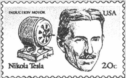 the nikola tesla postage stamp