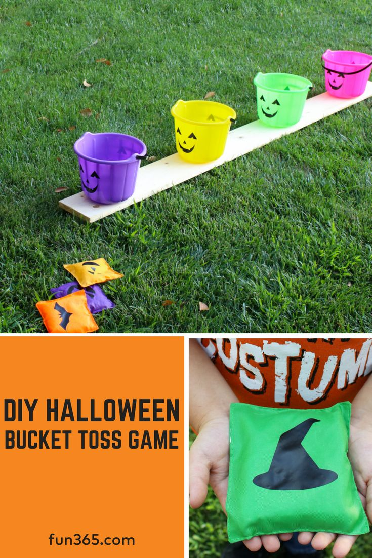 Create your own outdoor Halloween party game with this DIY