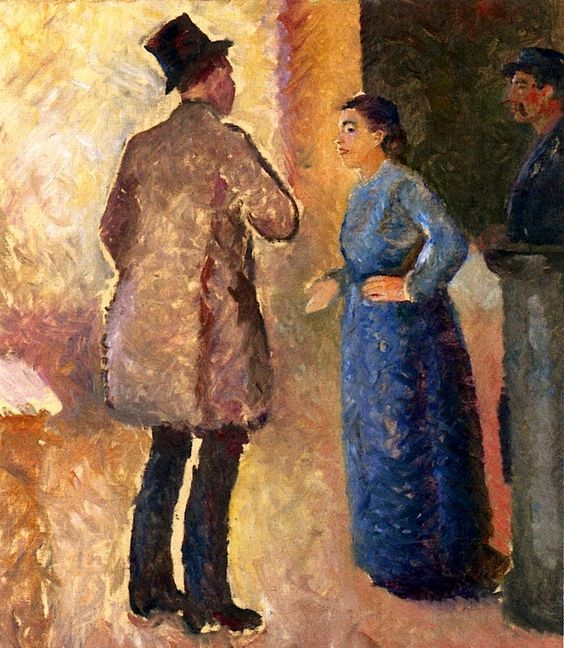 In the cafe - Edvard Munch