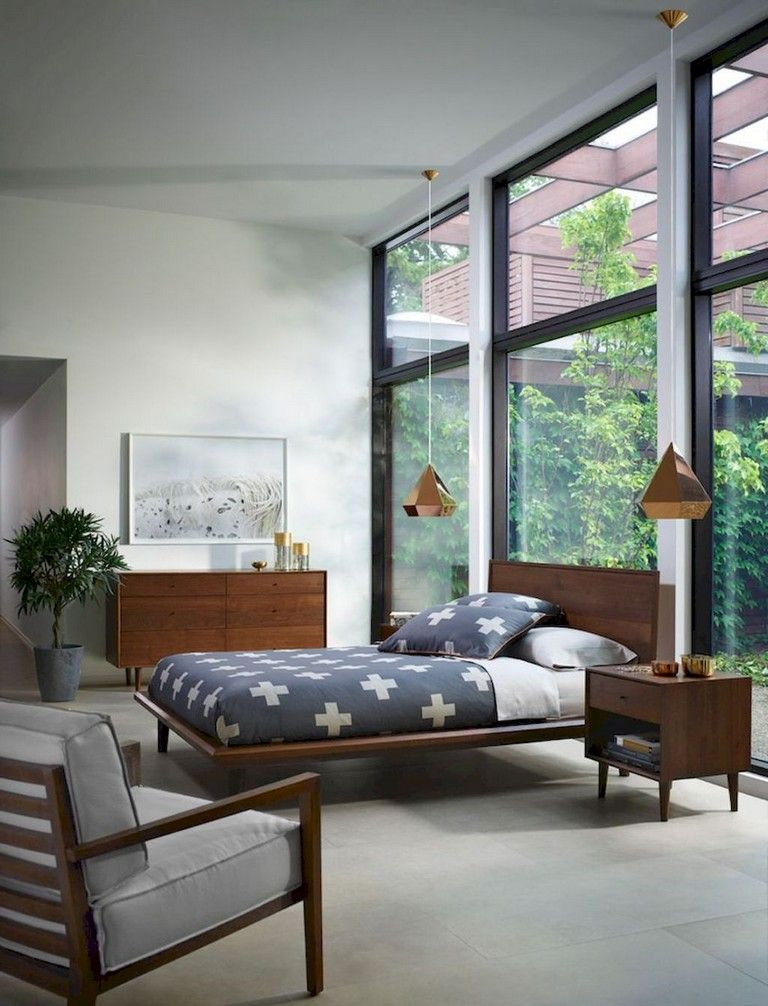 49 Awesome Mid Century Modern Living Room Furniture Ideas Mid Century Modern Bedroom Decor Modern Bedroom Furniture Mid Century Modern Master Bedroom