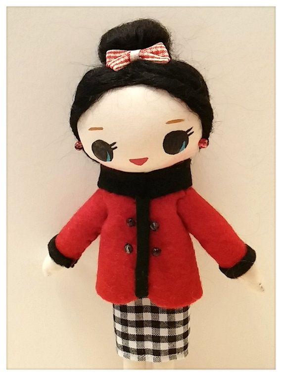 Japanese Vintage Pose Doll Big Eyes Dolly by CottonCandyWorkshop, $21.00