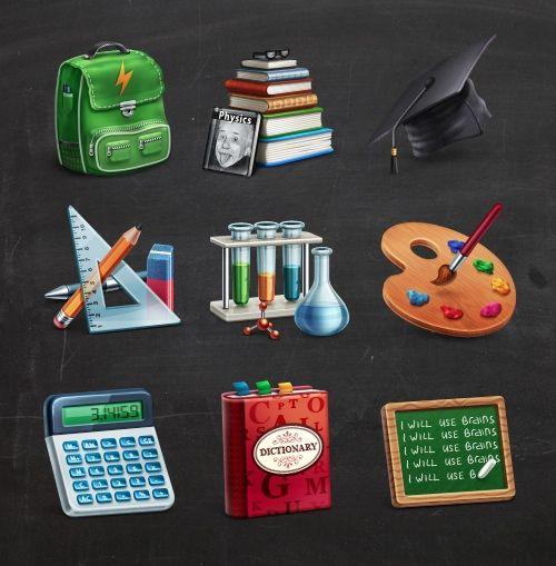 Freebie: Academic Icon Set (10 Icons + PSD Source)