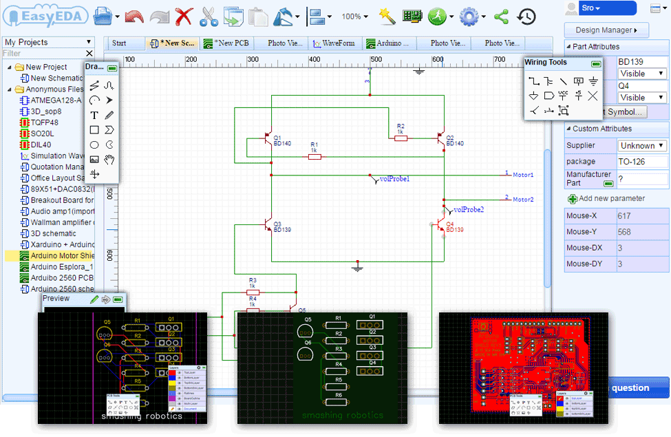 EasyEDA | Software and Programming | Pinterest | Circuits, Arduino ...