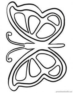 Butterfly Coloring Pages For Kids Preschool And Kindergarten Butterfly Coloring Page Easy Coloring Pages Butterfly Template
