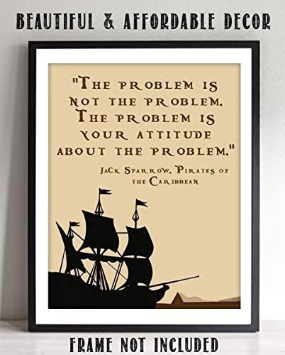 """Amazon.com: Jack Sparrow Quotes Wall Art Sign- """"The ..."""