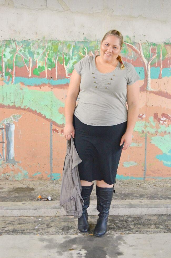 63adb77b8c0 Aussie Curves: Military {She Wore What} #plus #size #fashion #blog