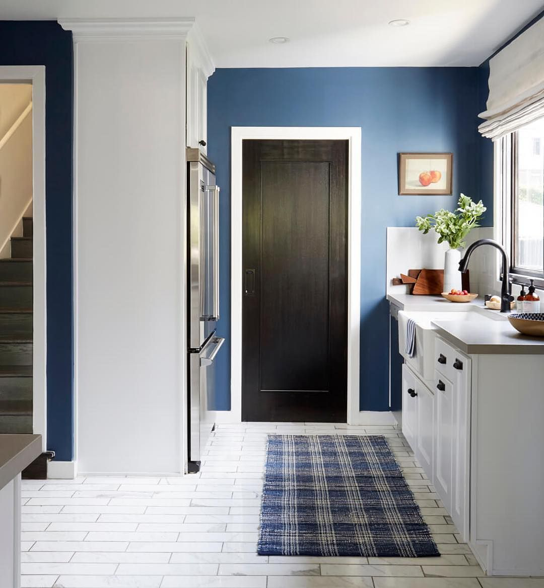Best Farrow Ball Stiffkey Blue Kitchen Paint Color Eclectic 400 x 300
