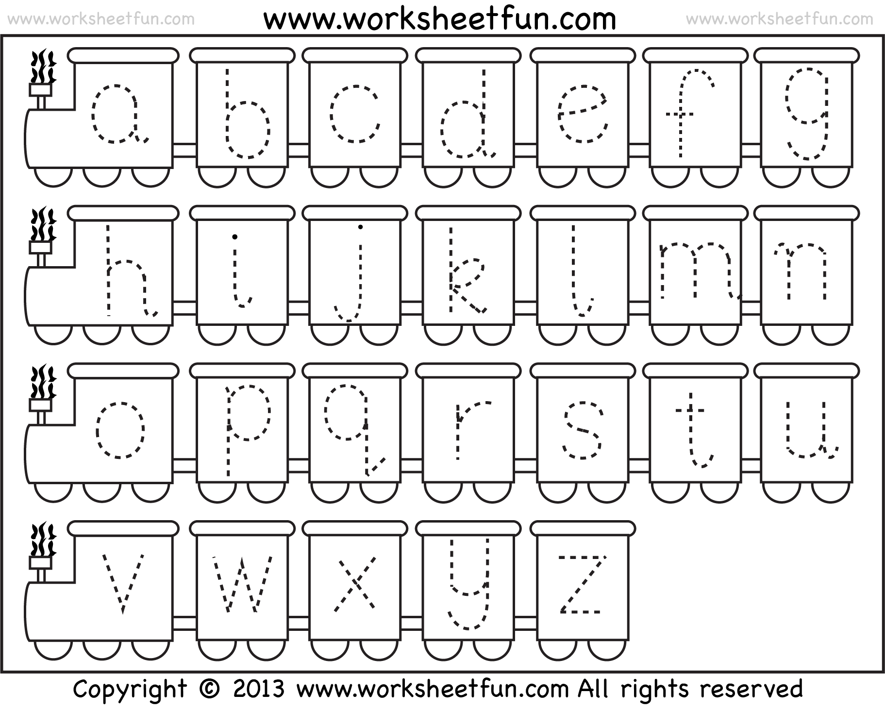 Train Preschool Worksheets