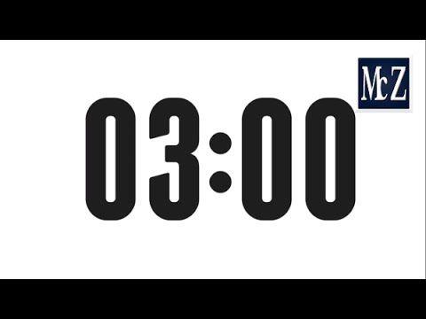 3 minute countdown timer conto alla rovescia 3 minuti behaviour