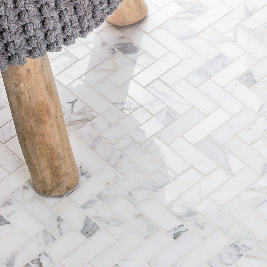 Calacatta Herringbone 1x3 Marble Tile Herringbone Tile Floors Herringbone Tile Tile Floor