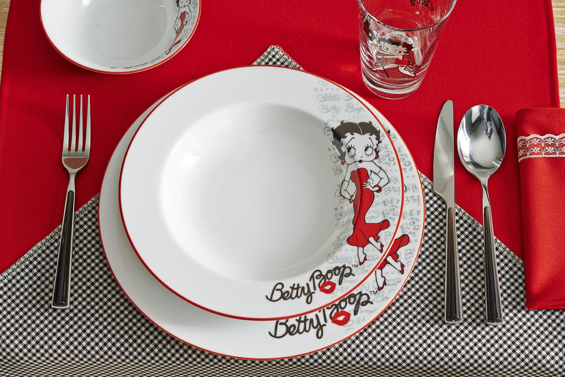 Betty Boop Yemek Takimi Dinnerware Set Bernardo Bettyboop