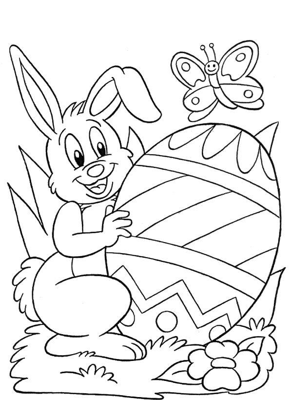 dibujo para colorear de pascua | ideas kinder 2018 | Pascua, Pascua ...