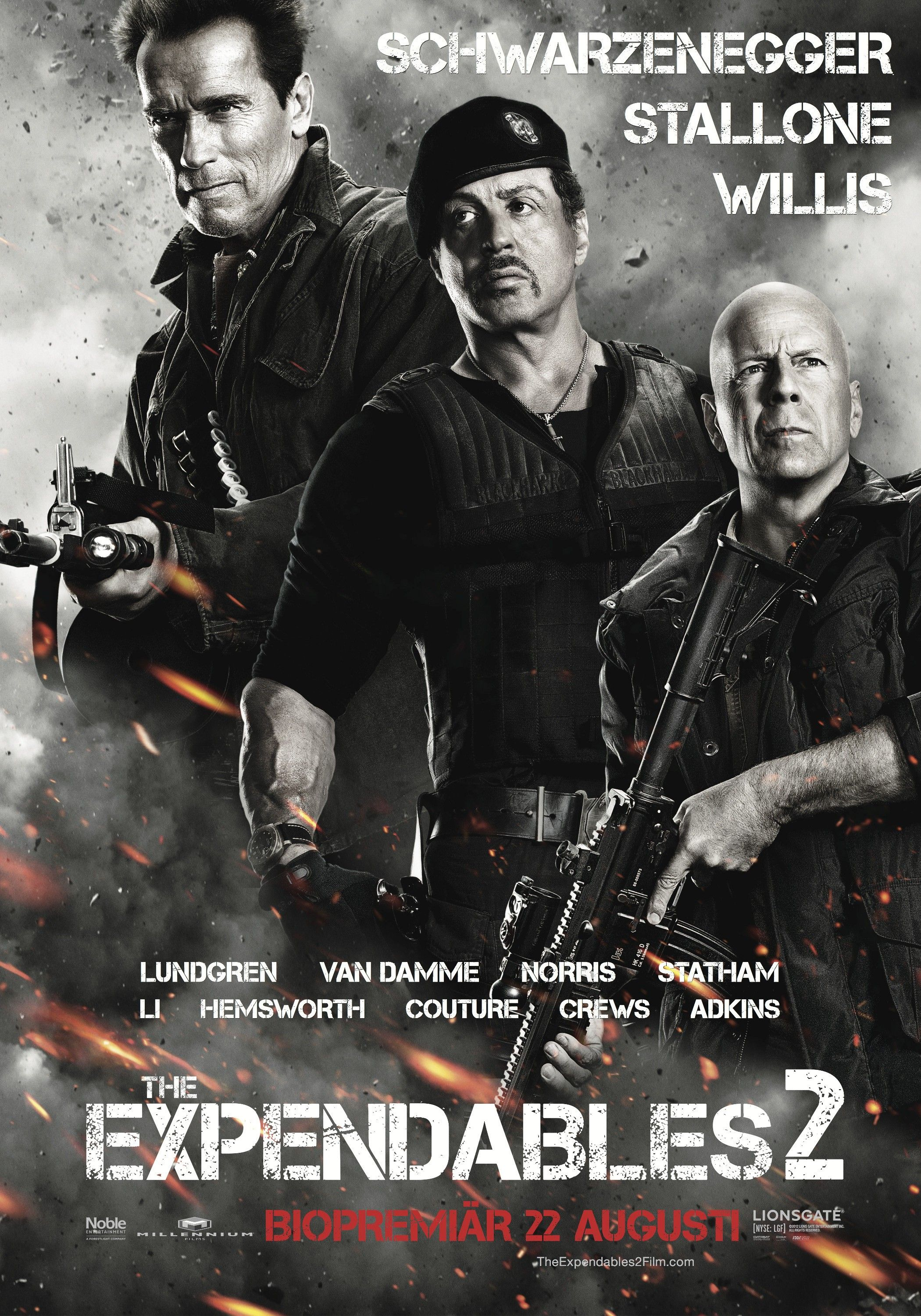 THE EXPENDABLES 2 (2012) TV Spot 1, Movie Poster: Bruce ...