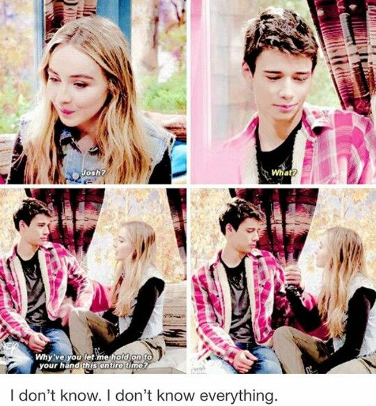 Joshaya moment. They are so cute together.