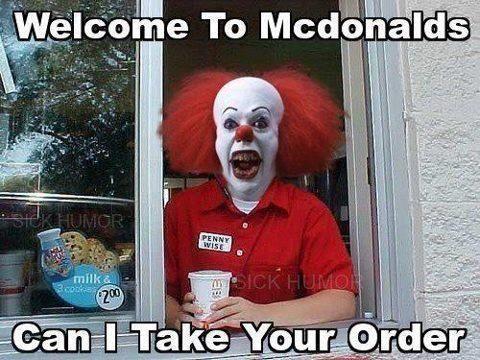 Horror Humor Clowns Funny Funny Horror Horror Movies Memes