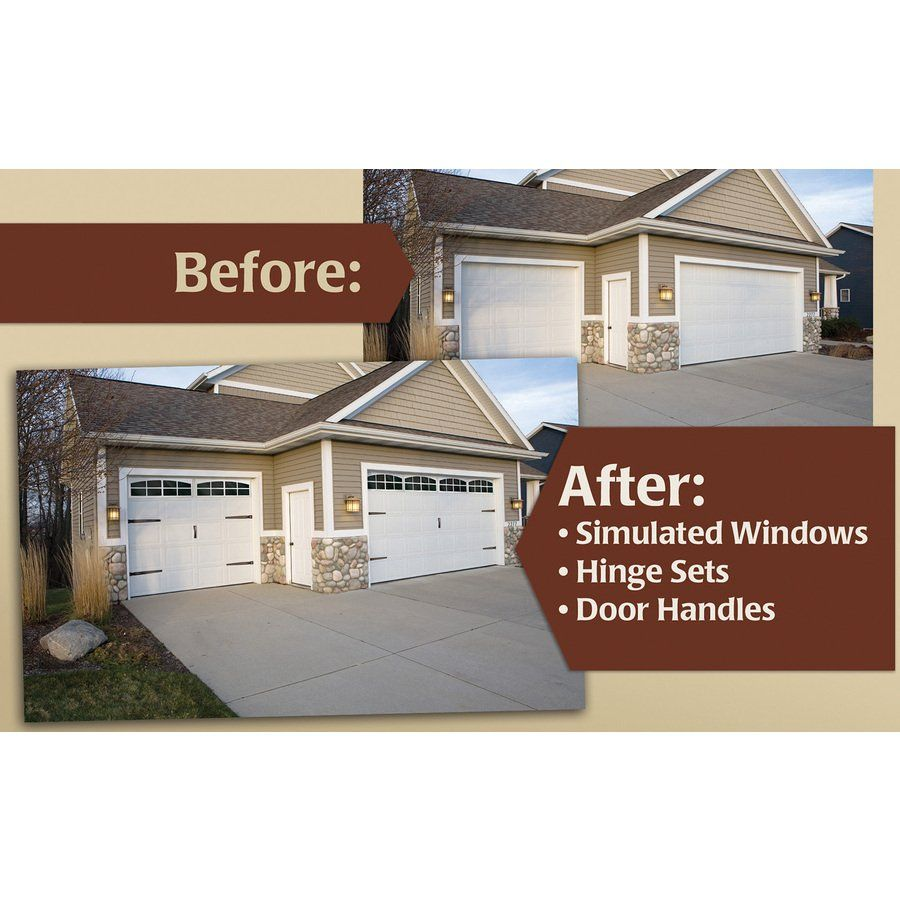 Garage Doors Lowes Canada Coach House Accents 45 5 In Mold In Color Plastic Garage Door