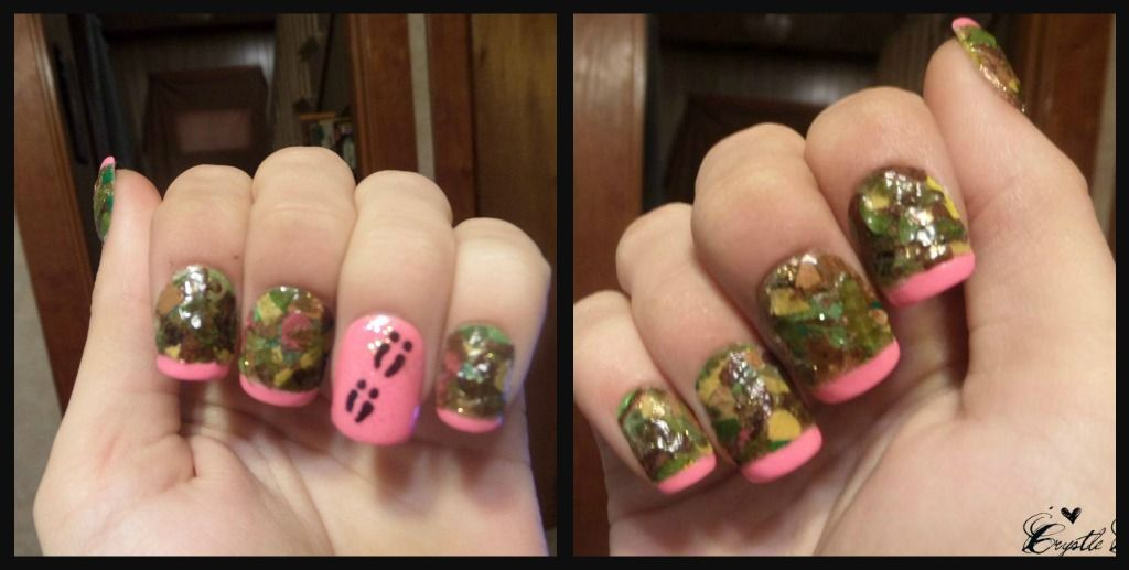 Realtree Pink Camouflage Inspired Nail Art On Acrylic Nails Pink Camo Nails Camo Nails Camouflage Nails