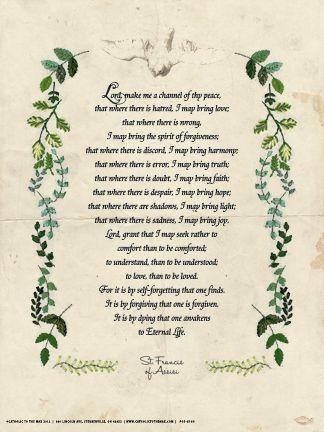 St Francis Prayer Poster Saint Francis Prayer Catholic Posters Prayers