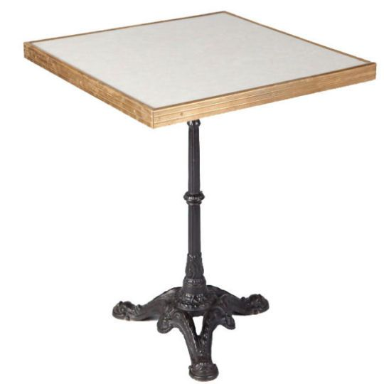 1950u0027s Bistro Table U003cpu003eA Square Mid Century French Bistro Table With A