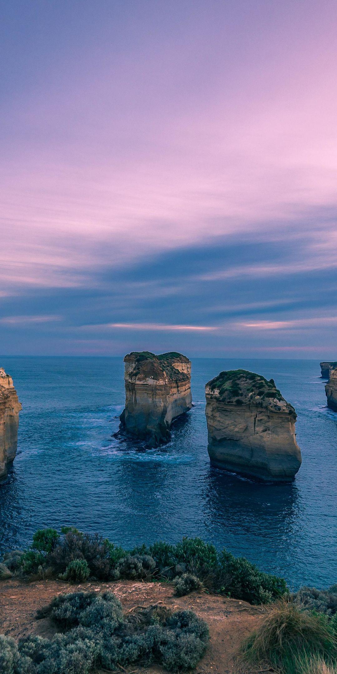 1080x2160 Sunset Sea Cliffs Nature Wallpaper Nature Wallpaper Landscape Wallpaper View Aesthetic
