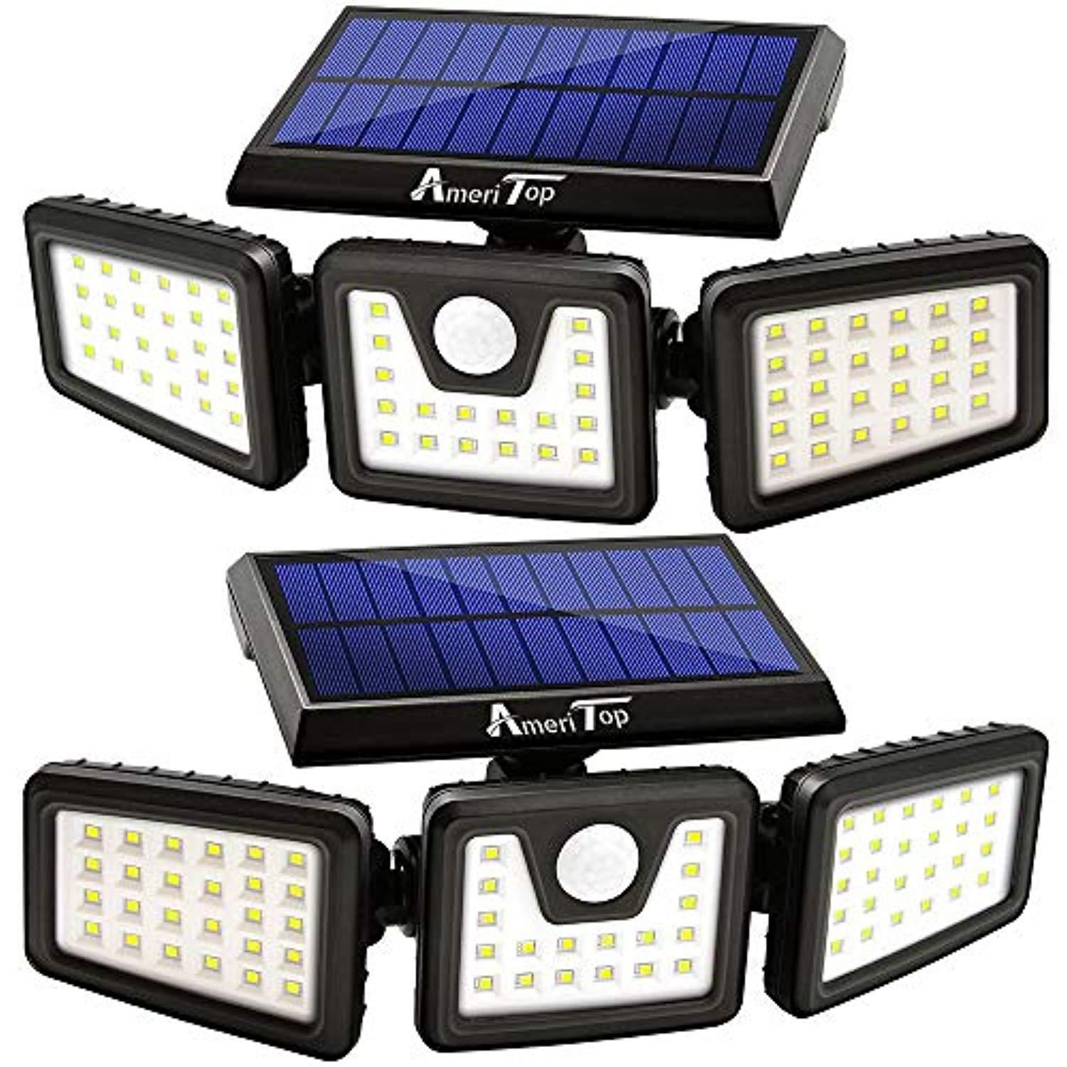 Solar Lights Outdoor 800lm Wireless Led Solar Motion Sensor 3 Adjustable Heads 270 In 2020 Motion Sensor Lights Outdoor Sensor Lights Outdoor Solar Security Light