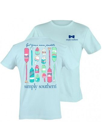 """Simply Southern """"Get Your Own Paddle"""" Tee - Bubbles"""