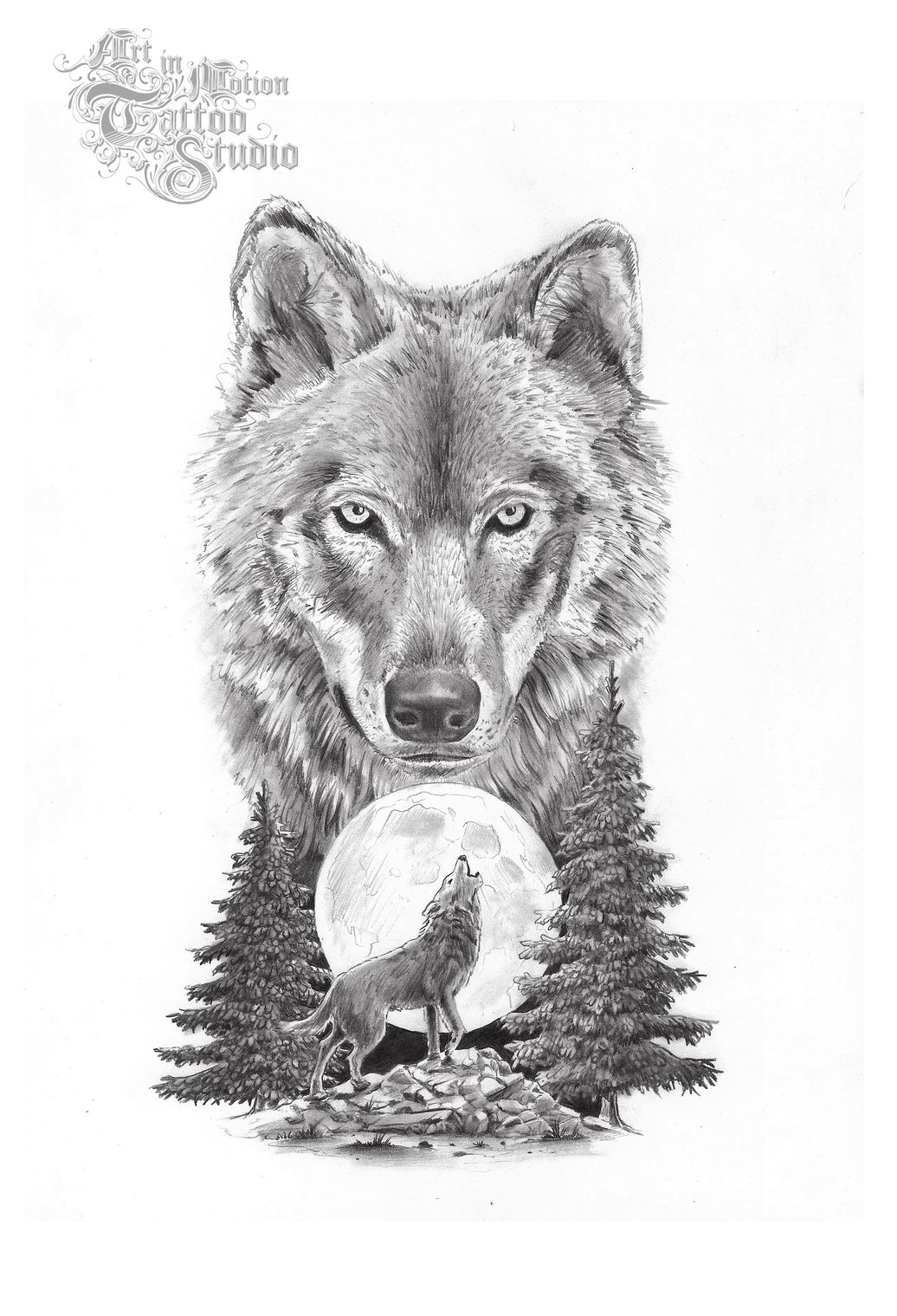 Wolf tattoo ideas wolf on upper arm | Tattoo Collection ...