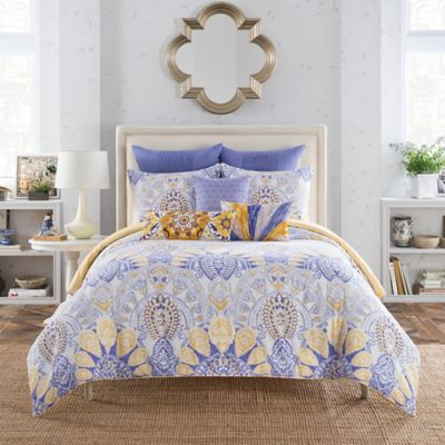 Purple And Yellow Bedding Anthology Lyla Reversible