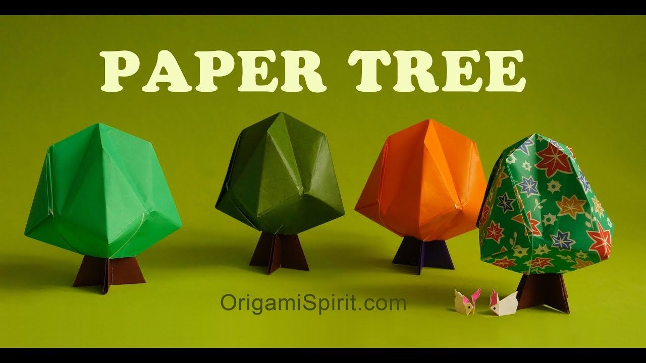 Easy Origami Tree Origami Tutorial To Make An Easy Origami Tree
