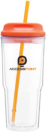 the gulp. 24 oz acrylic double wall tumbler with H/C threaded lid and matching straw