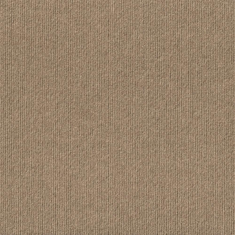 Foss Peel And Stick Design Smart Taupe Rib 18 In X 18 In Residential Carpet Tile 10 Tiles Case 7rd9n4010pk The Home Depot Carpet Tiles Textured Carpet Carpet Solutions