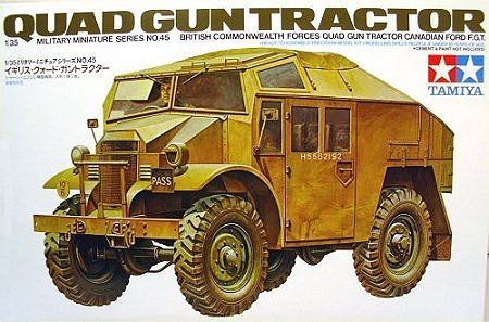 Tamiya Gun Tractor | Hobbies British Commonwealth Forces Quad Gun Tractor Canadian Ford F.G.T. Ready to assemble precision model kit