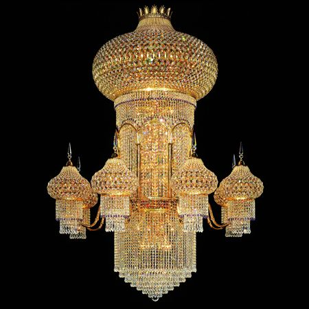 Luxury Designer Crystal Empire Chandelier