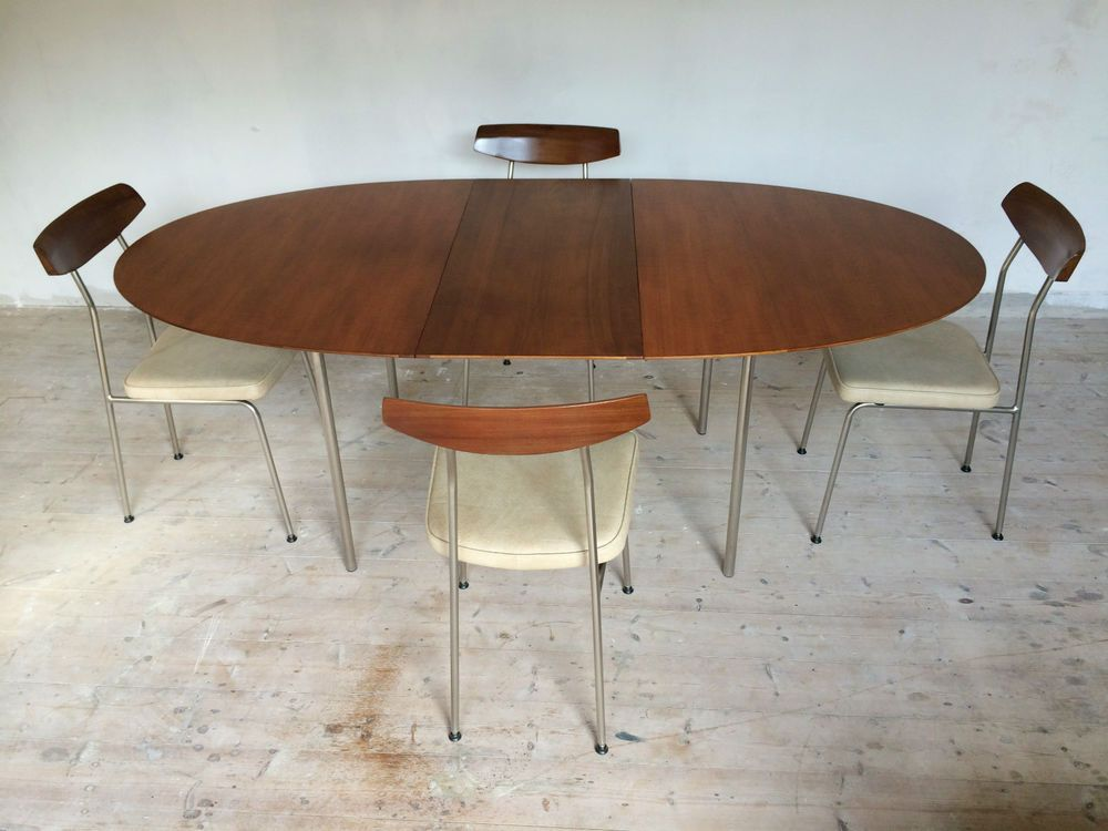 Original Vintage 1950s Stag S Range Dining Table 4 Chairs By John Sylvia Reid