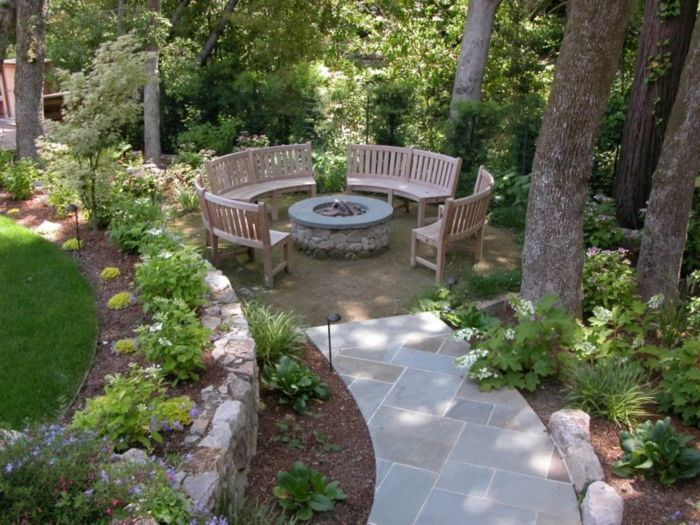 wunderschöne sitzecken im garten - selber gestalten ideen | garten, Gartenarbeit