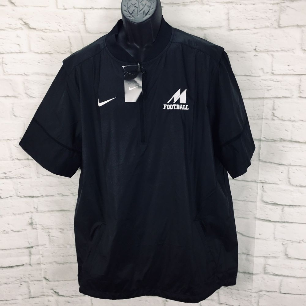 f65b660d322 Nike Hot Short Sleeve 1 4 Zip Jacket Men s L Football Black 746951  Nike