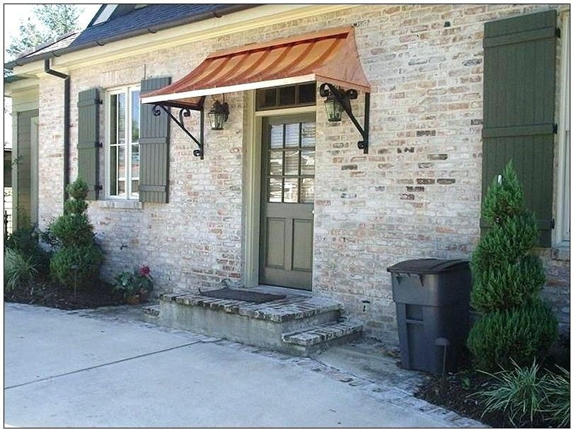 Attirant For Use Above Both Front Bay Windows Entry Door Canopy Exceptional Exterior  Door Awning 3 Front