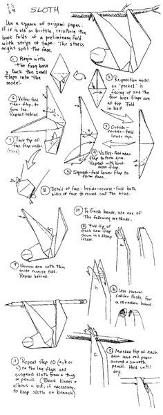 Image Result For Origami Sloth Instructions