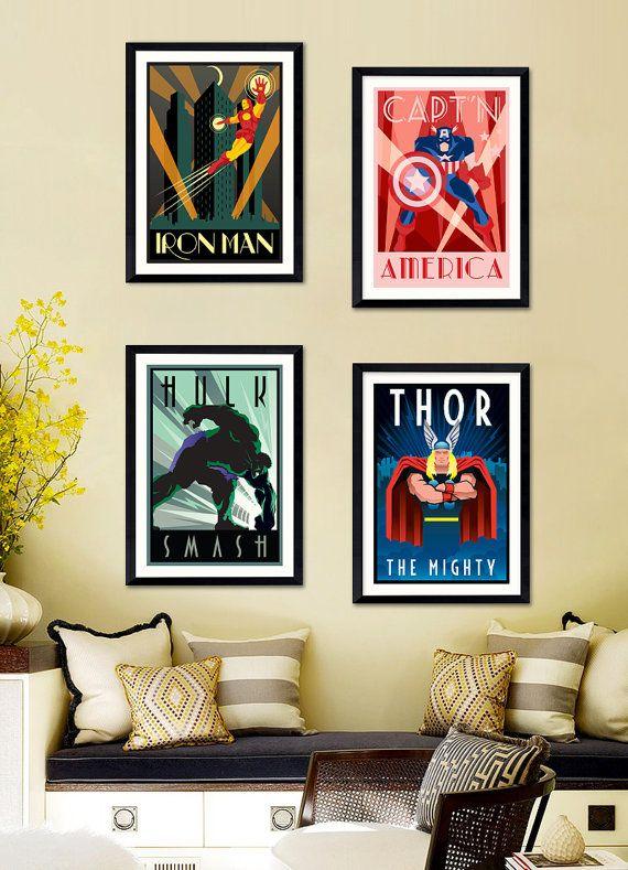 Affiche Poster A4 / A3 - MARVEL VINTAGE (25% off shop page / -25 sur la page boutique)
